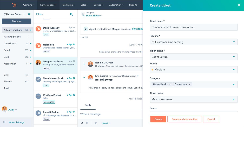 HubSpot Sales : Email d'équipe